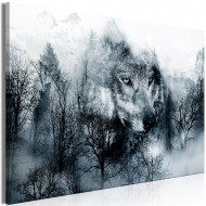 Tableau  Mountain Predator (1 Part) Wide Black and White