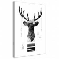Tableau  Abstract Antlers (1 Part) Vertical
