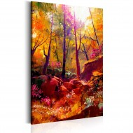 Tableau  Forêt peinte