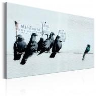 Tableau  Protesting Birds by Banksy