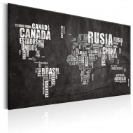 Tableau  World Map Mundo Negro