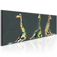 Tableau  Colourful Giraffes