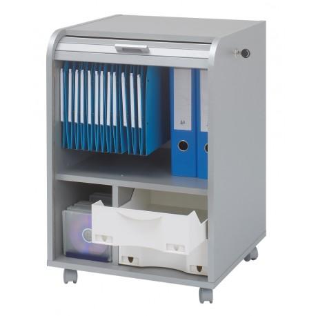 Meuble caisson de bureau mobile aluminium