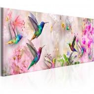 Tableau  Colourful Hummingbirds (1 Part) Narrow