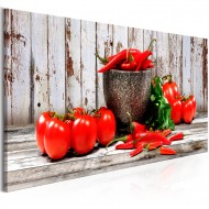 Tableau  Red Vegetables (1 Part) Wood Narrow