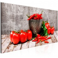 Tableau  Red Vegetables (1 Part) Concrete Narrow