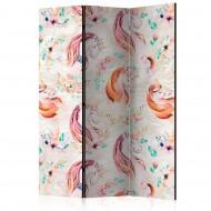 Paravent 3 volets  Pastel Unicorns [Room Dividers]