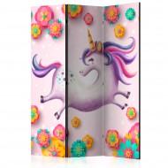 Paravent 3 volets  Lithe Unicorn [Room Dividers]
