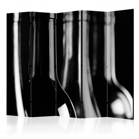Paravent 5 volets  Wine Bottles II [Room Dividers]