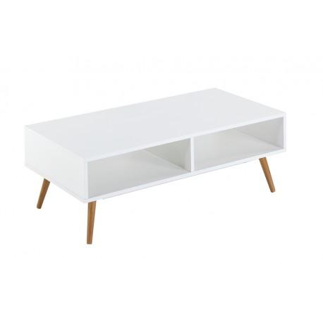 Table basse blanche 4 pieds ch ne vintage - Table basse trois pieds ...