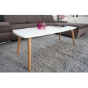 Table Basse Blanche 4 Pieds Chêne