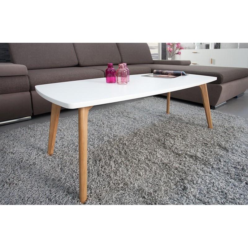 table basse blanche 4 pieds ch ne. Black Bedroom Furniture Sets. Home Design Ideas
