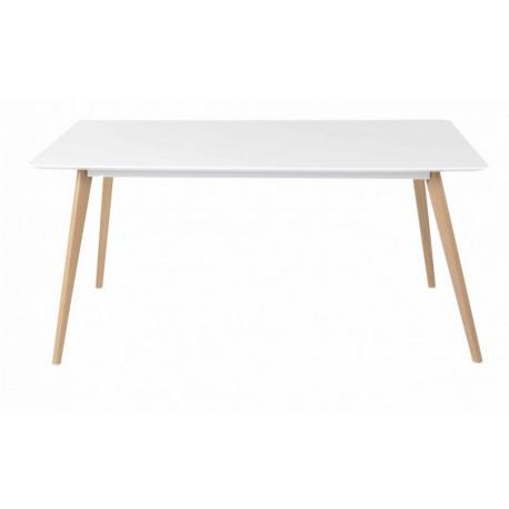 table repas blanche 4 pieds ch ne vintage 160 cm. Black Bedroom Furniture Sets. Home Design Ideas