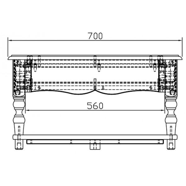 Table basse blanche de style anglais beaux meubles pas chers for Table 100x70
