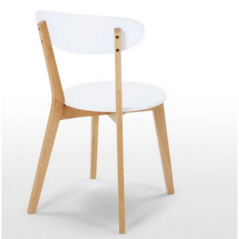 2 chaises blanches et ch ne - Chaises blanches bois ...