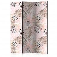 Paravent 3 volets  Pink Palm Leaves [Room Dividers]
