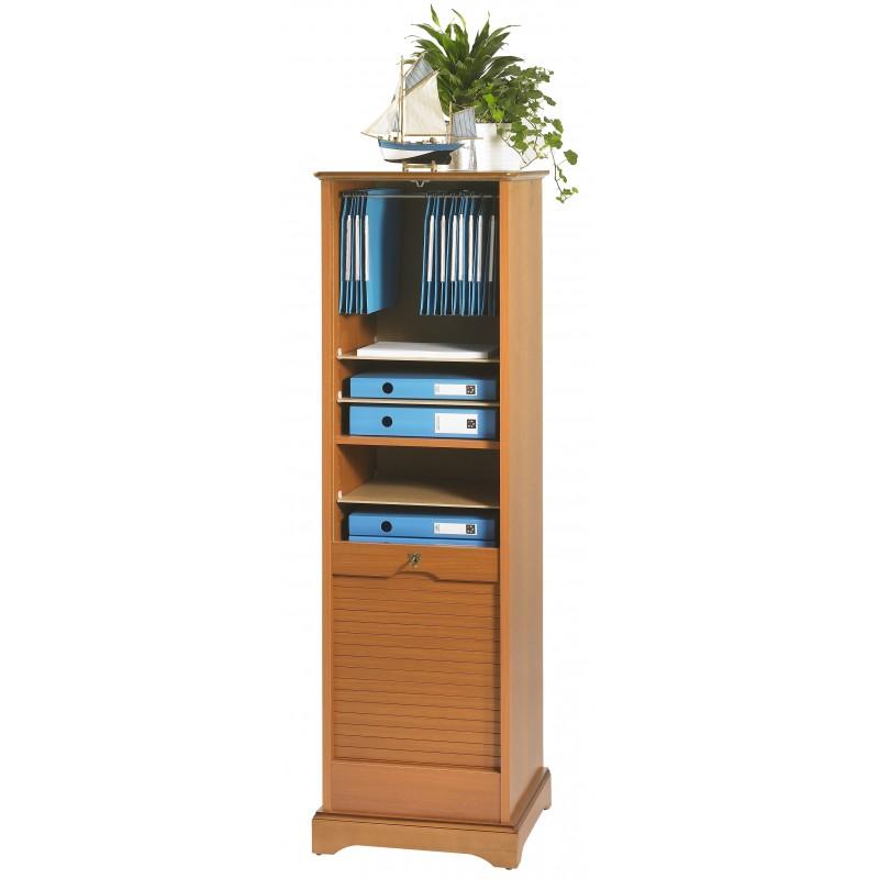 classeur rideau 150 cm louis philippe merisier beaux meubles pas chers. Black Bedroom Furniture Sets. Home Design Ideas