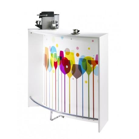 Meuble de cuisine blanc pas cher cuisine en kit meuble for Meuble bar comptoir design