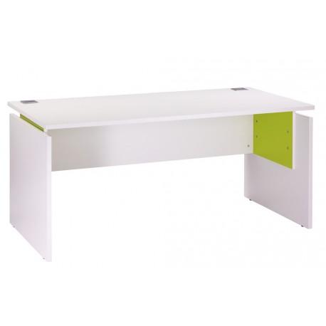 Bureau ineo 160 x 80 cm blanc anis r glable en hauteur - Bureau reglable en hauteur ikea ...