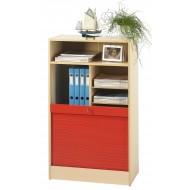 Classeur à Rideau hauteur 117 cm Largeur 70 cm rouge