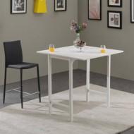 Table Haute Dépliante Blanche 4 Repas