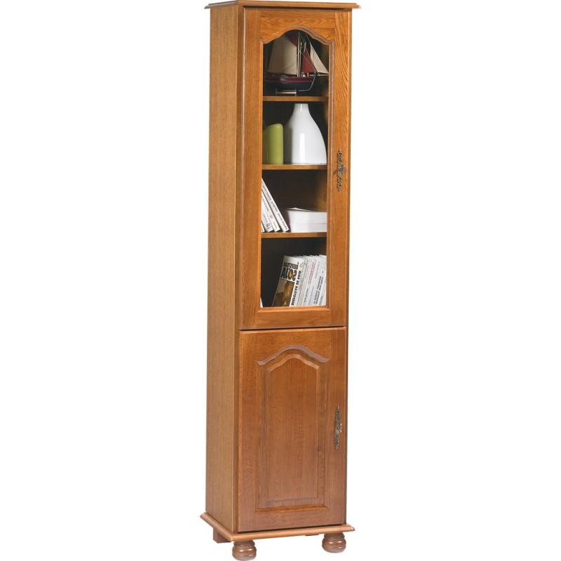 biblioth que 2 portes ch ne rustique ouverture vers la gauche beaux meubles pas chers. Black Bedroom Furniture Sets. Home Design Ideas