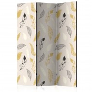 Paravent 3 volets  Golden Feathers [Room Dividers]