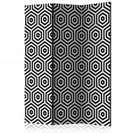 Paravent 3 volets  Black and White Hypnosis [Room Dividers]