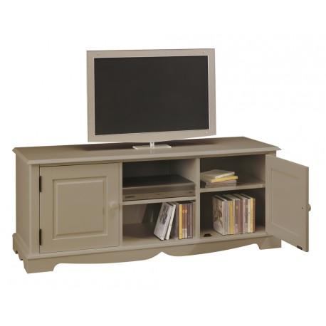 meuble tv hifi taupe 2 portes 2 niches beaux meubles pas chers. Black Bedroom Furniture Sets. Home Design Ideas