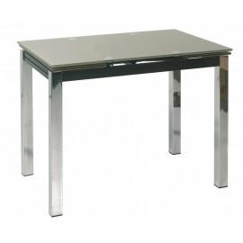Table de Cuisine Plateau Verre Noir 90 x 60 cm