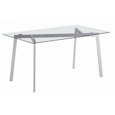 Table de Cuisine Plateau Verre Noir 90 x 70 cm