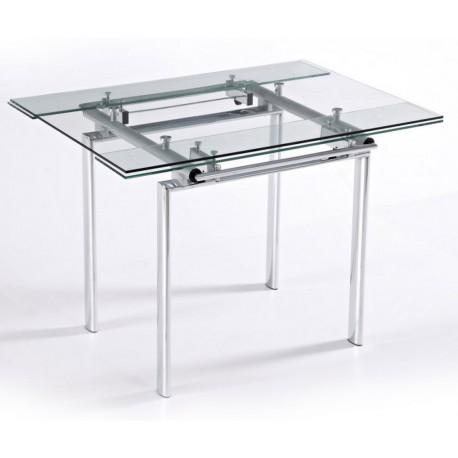 Table Haute De Cuisine Carr E Plateau Verre 135 Cm
