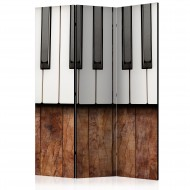Paravent 3 volets  Inspired by Chopin  mahogany [Room Dividers]