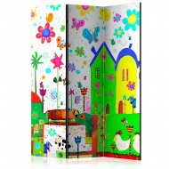 Paravent 3 volets  Happy farm [Room Dividers]