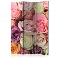 Paravent 3 volets  Pastel roses [Room Dividers]