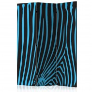 Paravent 3 volets  Zebra pattern (turquoise) [Room Dividers]