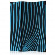 Paravent 3 volets  Zebra pattern (turquoise) [Room Dividers]