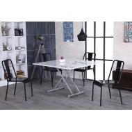 Table Relevable Blanche Avec Rallonges