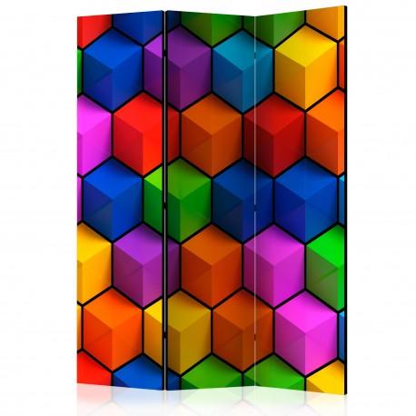 Paravent 3 volets  Colorful Geometric Boxes [Room Dividers]