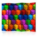Paravent 5 volets - Colorful Geometric Boxes [Room Dividers]