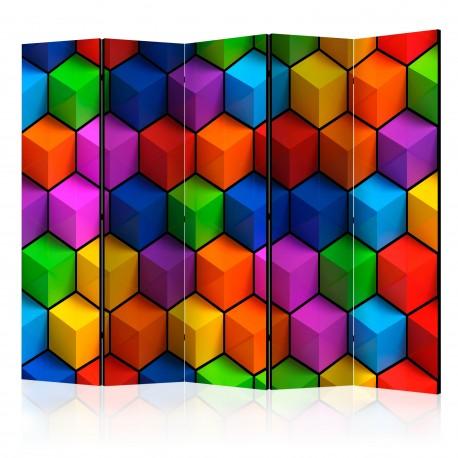 Paravent 5 volets  Colorful Geometric Boxes [Room Dividers]