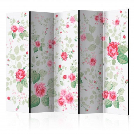 Paravent 5 volets  Rosy pleasures [Room Dividers]