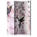 Paravent 3 volets - Flying Hummingbirds (Pink) [Room Dividers]
