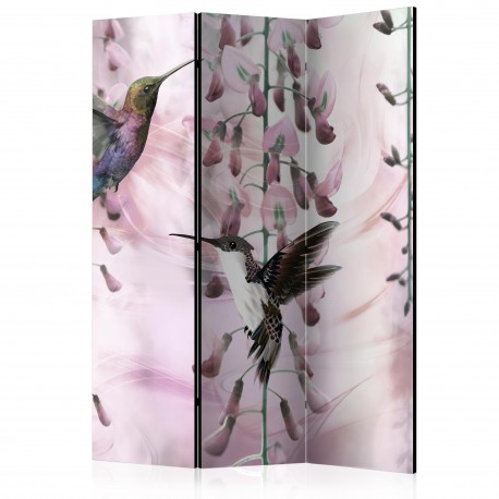 Paravent 3 volets  Flying Hummingbirds (Pink) [Room Dividers]