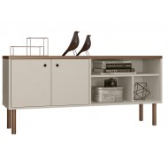 Buffet Bas - Meuble TV 136 cm Bicolore
