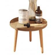 Table Basse Ronde Chêne 45 cm Pieds Bois