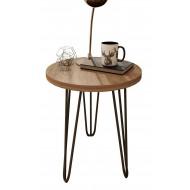 Table Basse Ronde 45 cm Pieds Métal