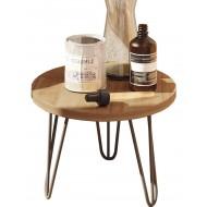 Petite Table Basse Ronde 45 cm Pieds Métal