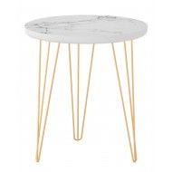 Table Basse Ronde Coloris Marbre 45 cm