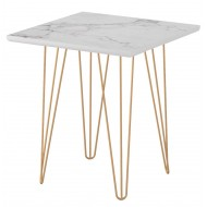 Table Basse Carrée Coloris Marbre H 47 cm